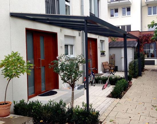 Vordach in 68519 Viernheim - Heddesheim, Hirschberg (Bergstraße) und Ilvesheim
